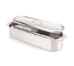 World Cuisine 41964-60 Fish Poacher w/ Lid & Rack, 7.5 x 24-in, Stainless Steel