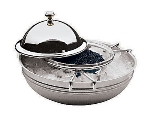 World Cuisine 41562-18 4-Piece Caviar Server, Stainless, Glass