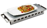 World Cuisine 41569-45 Plate Dish Warmer w/ Dual Handles, 17.75 x 7-1/8-in, Stainless