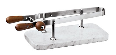 World Cuisine 41583-00 Ham Holder w/ Marble Base, 17.75 x 9.5-in