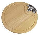 World Cuisine 41658-40 Cheese Board w/ Decorative Natural Dense Wood, 15.75 x 3/4-in