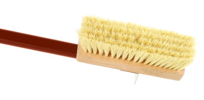 World Cuisine 41739-20 Oven Brush, 2.5 x 7-7/8 -in, Natural Bristle w/ Red Anodize Handle
