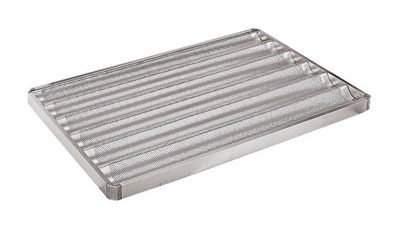 World Cuisine 41758-65 Baguette Pan, 25.5 x 17-in, Perforated, Aluminum
