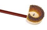 World Cuisine 41766-14 Oven Brush w/ Brass Bristle & Red Anodized Handle, 5.5 x 59""
