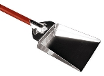 World Cuisine 41768-21 Stainless Ash Shovel w/ Red Anodized Handle, 8.25 x 12.25-in