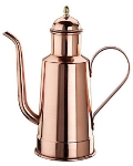 World Cuisine 41781-05 Oil Dispenser w/ Wood Handle, 1/2-qt, Copper