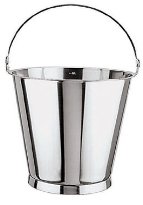 World Cuisine 41961-12 Graduated Bucket, 12-5/8-qt, Stainless w /Base