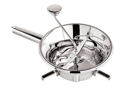 World Cuisine 42572-24 Food Mill, 9.5 x 3.5-in, Stainless Steel