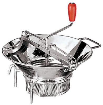 World Cuisine 42575-37 Food Mill, 8-qt Capacity, Tinned Steel