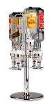 World Cuisine 44057-04 Revolving Bottle Rack, 10 x 27.5-in, Holds 4 Bottles, Aluminum