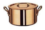 World Cuisine 45307-28 Stew Pan w/ Cast iron Handle, 9.5-qt, Stainless Lined Copper