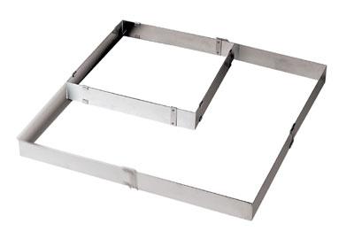 World Cuisine 47526-05 Adjustable Square Frame Extender, Stainless Steel