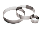 World Cuisine 47532-18 Pastry Ring, 7-1/8 x 1.75-in, Stainless Steel