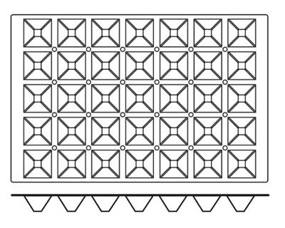 World Cuisine 47678-10 Pyramid Mold, 2-5/8 x 2-5/8-in, Non Stick Silicone