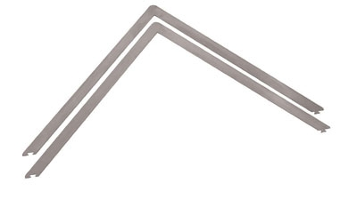 "World Cuisine 47693-15 Ganache Frame, 15.75 x 1/2"", Stainless Steel"