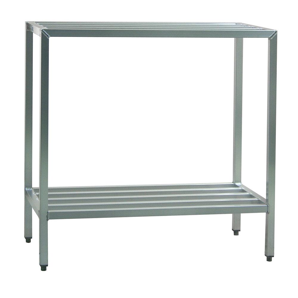 "New Age 1026 48"" Stationary Dunnage Rack w/ 1500-lb Capacity, Aluminum"