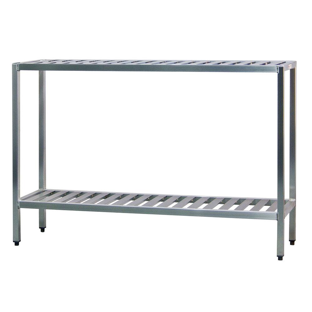"New Age 1026TB Welded T-Bar Style 2-Shelving Unit w/ Adjustable Feet, 48x24x48"", Aluminum"