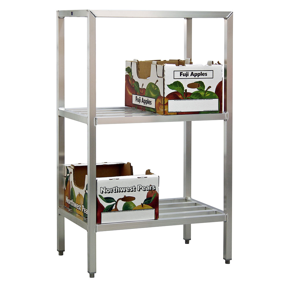 "New Age 1042 48"" Heavy-duty Shelving Unit w/ 1500-lb Capacity, Aluminum"