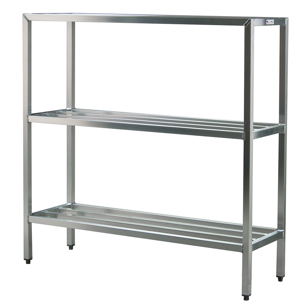 "New Age 1043 60"" Stationary Dunnage Rack w/ 1500-lb Capacity, Aluminum"