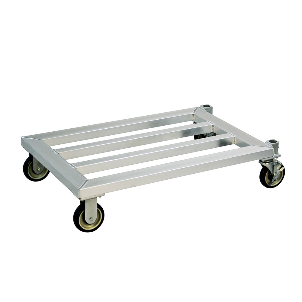"""New Age 1204 37.75"""" Mobile Dunnage Rack w/ 1000-lb Capacity, Aluminum"""