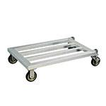 "New Age 1206 49.75"" Mobile Dunnage Rack w/ 1000-lb Capacity, Aluminum"