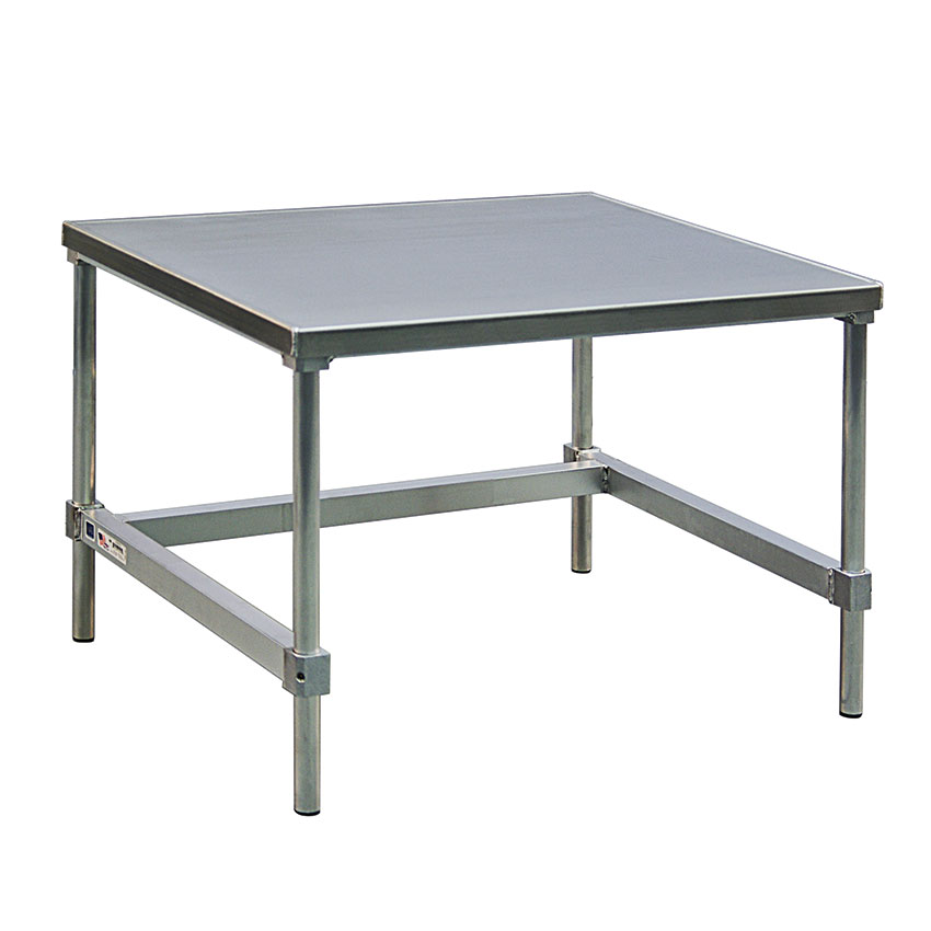 "New Age 12448GS 48"" x 24"" Stationary Equipment Stand for General Use, Open Base"