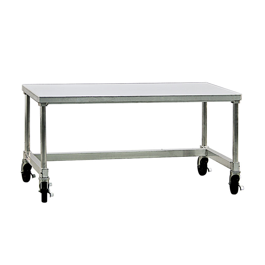 """New Age 12472GSC 72"""" x 24"""" Mobile Equipment Stand for General Use, Open Base"""