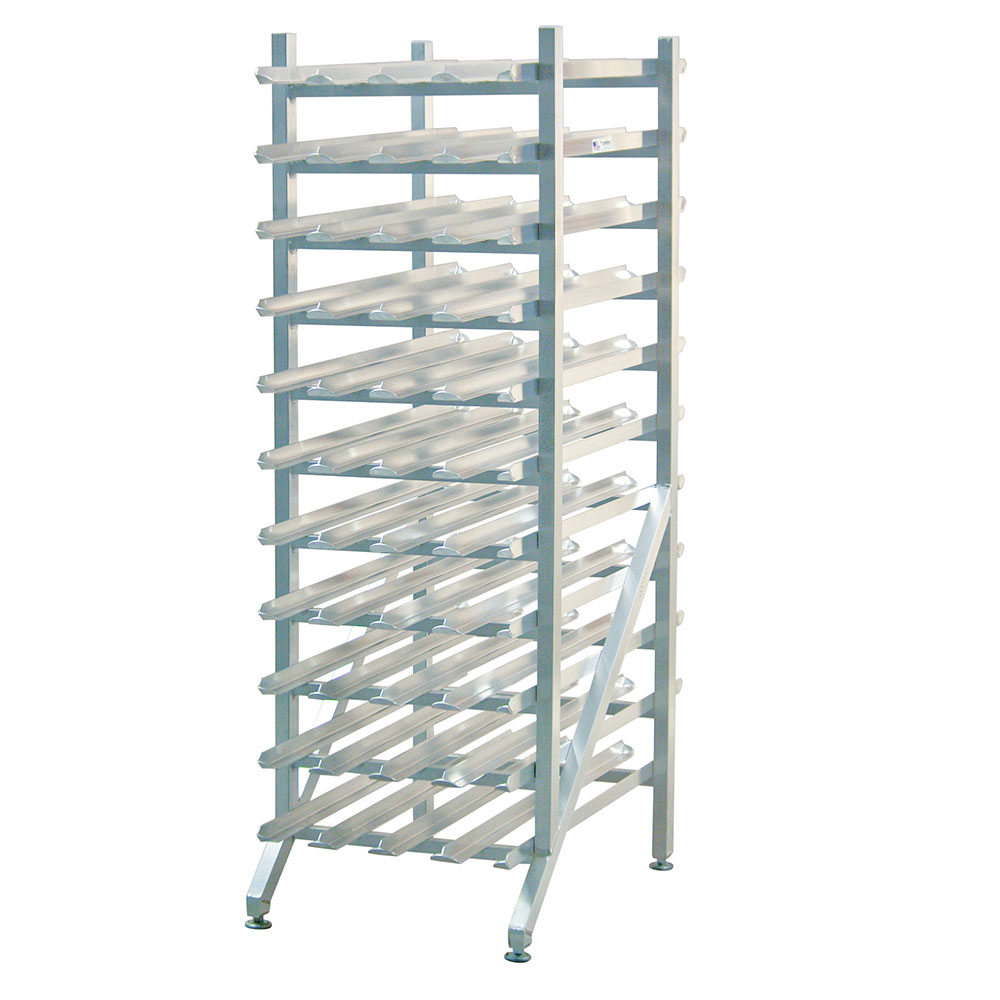 "New Age 1251 66""H Stationary Can Rack w/ (352) #2-1/2 or (484) #303 Capacity, Adjustable Feet"