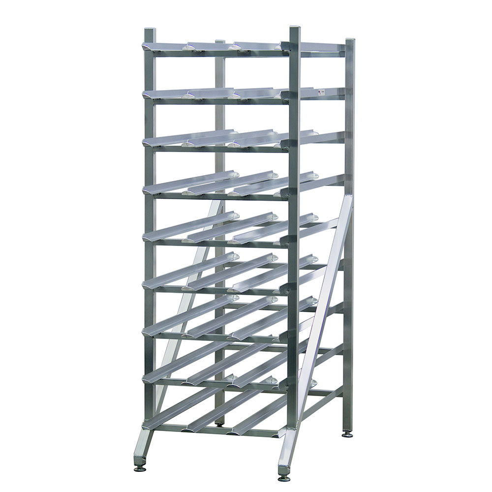 New Age 1256 Stationary Can Storage Rack w/ Adjustable Feet, (216)#10 Or (297)#5 Can Capacity