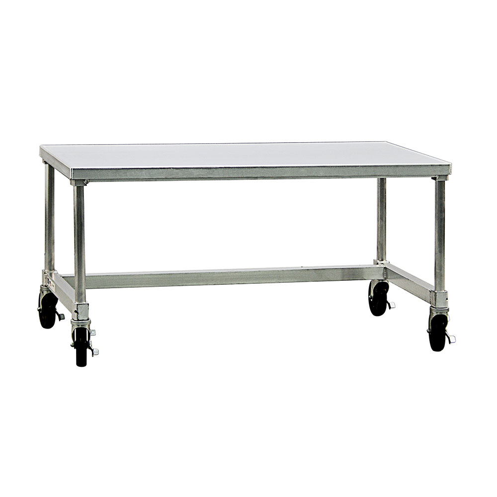 "New Age 13072GSCU 72"" x 30"" Mobile Equipment Stand for General Use, Undershelf"