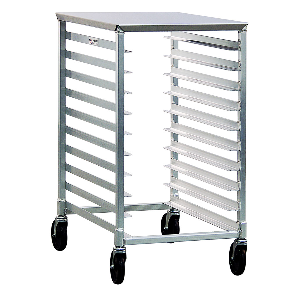 New Age 1311 Mobile Pan Rack, Slides For 18x26-in Pans End Loading Half Size Height, Aluminum