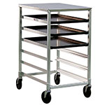"New Age 1321 Mobile Pan Rack Stainless Top Half Size Height Slides for 18x26"" Pans Aluminum"