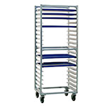 "New Age 1331S Mobile Full Height Pan Rack w/ (20)18x26"" Pan Capacity & Side Loading Aluminum"