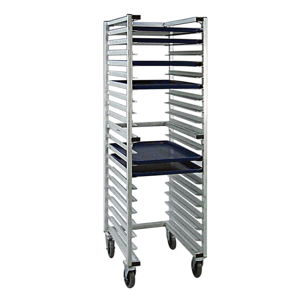 "New Age 1331U 20.38""W 20-Sheet Pan Rack w/ 3"" Bottom Load Slides"
