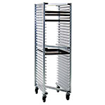 "New Age 1331Z Mobile Full Height Z Type Pan Rack (20)18x26"" Pan Capacity Open Sides Aluminum"