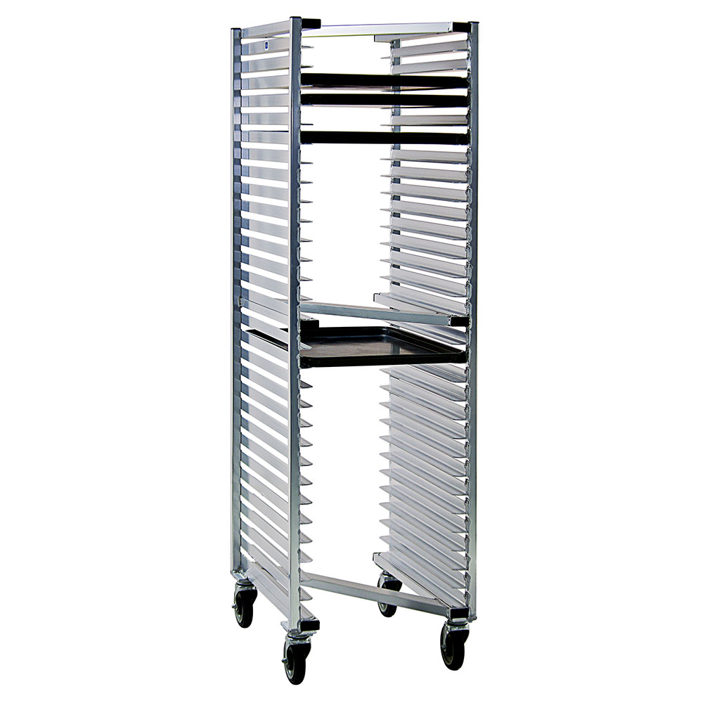 New Age 1331Z Mobile Full Height Z Type Pan Rack (20)18x26-in Pan Capacity Open Sides Aluminum
