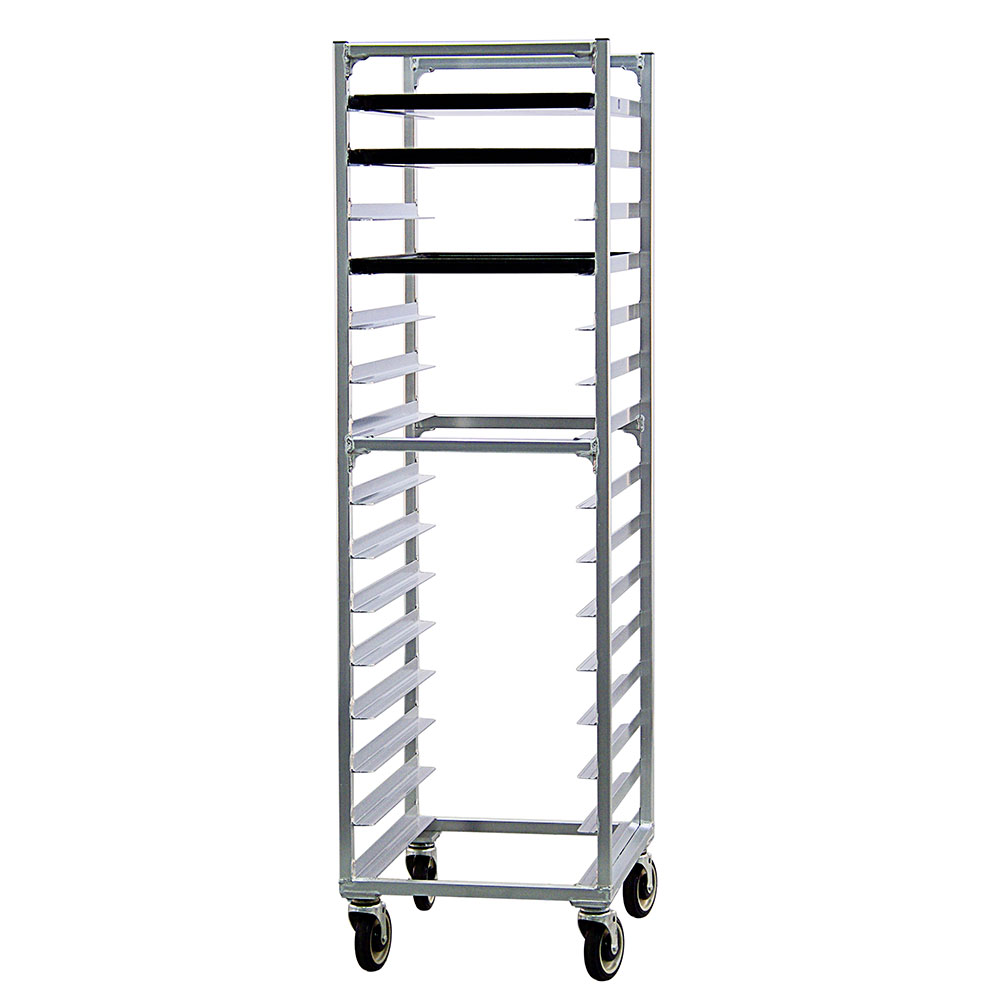"New Age 1332 Mobile Full Height Pan Rack w/ (15)18x26"" Pan Capacity, Welded Aluminum"