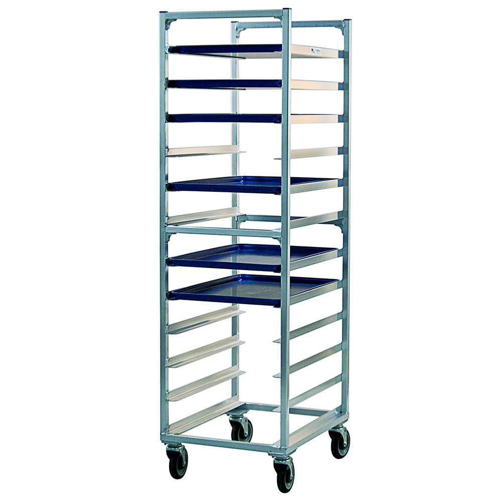New Age 1333 Mobile Full Height Pan Rack w/ (12)18x26-in Pan Capacity & End Loading Aluminum