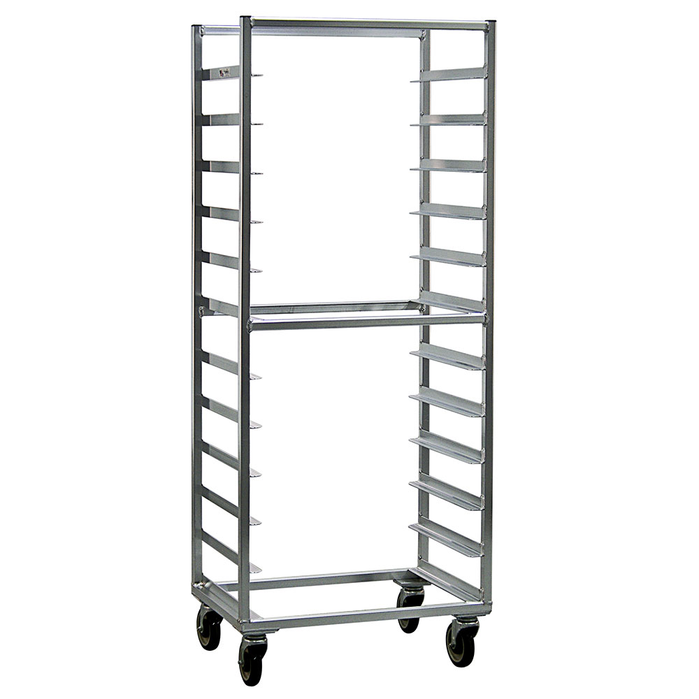 "New Age 1333S Mobile Full Height Pan Rack w/ (12)18x26"" Pan Capacity & Side Loading Aluminum"