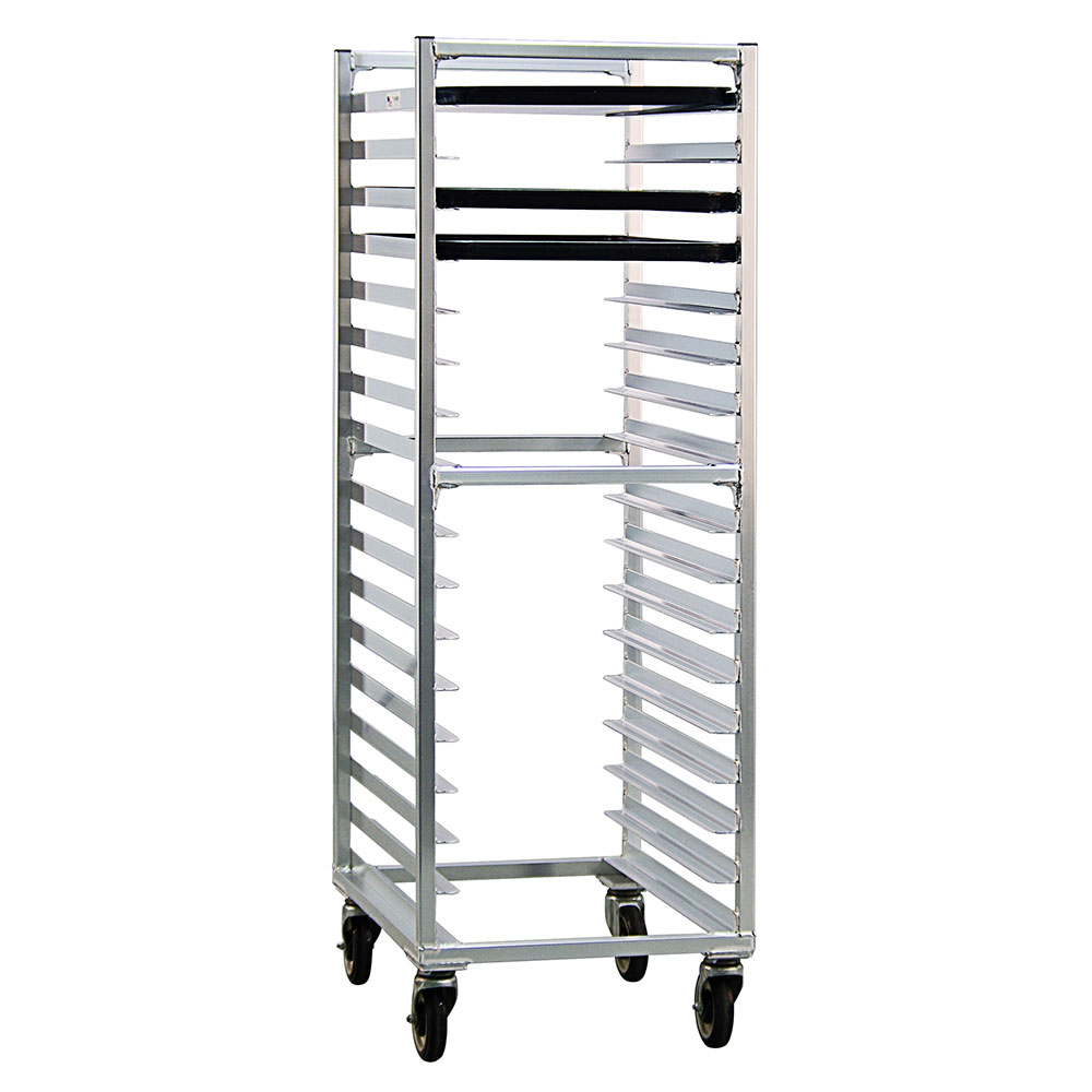 New Age 1361 20.38W 17-Bun Pan Rack w/ 3 Bottom Load Slides