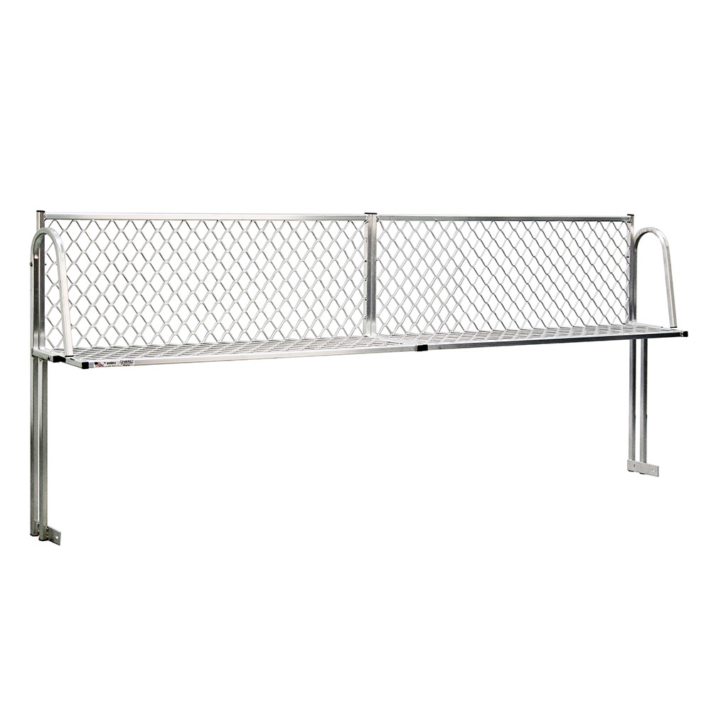"""New Age 1375T Table Mount Boat Rack w/ Mounting Brackets & Hardware, 120x15"""", Aluminum"""