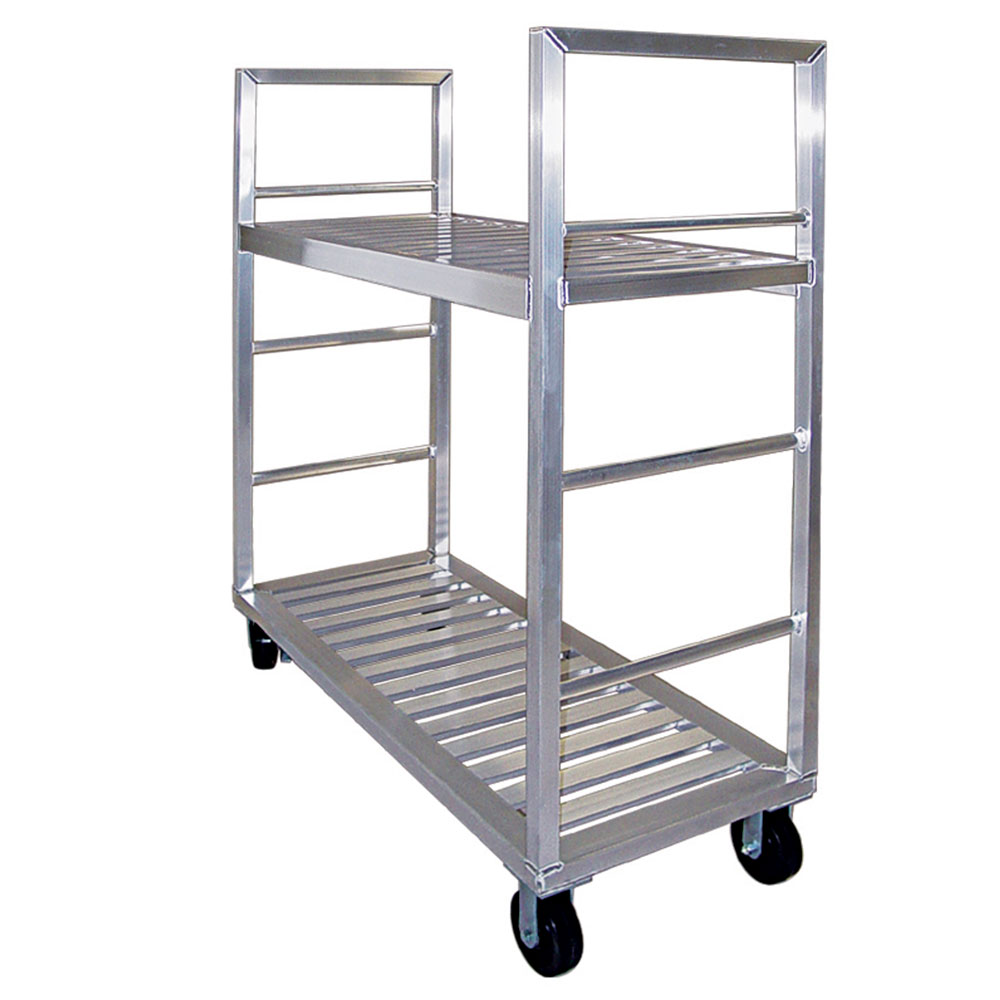 """New Age 1430 58"""" Mobile Dunnage Rack w/ 2000-lb Capacity, Aluminum"""
