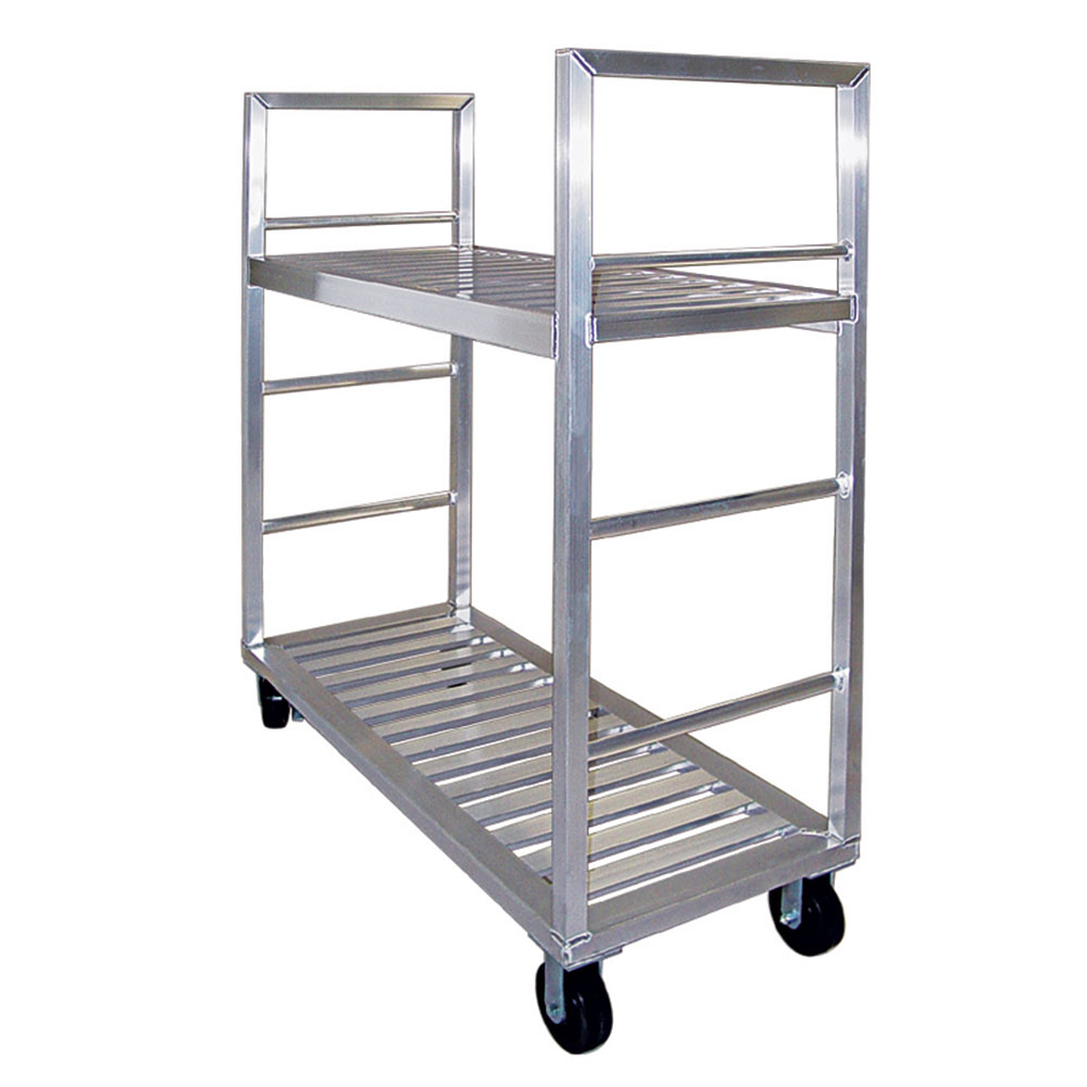 """New Age 1431 58"""" Mobile Dunnage Rack w/ 2000-lb Capacity, Aluminum"""