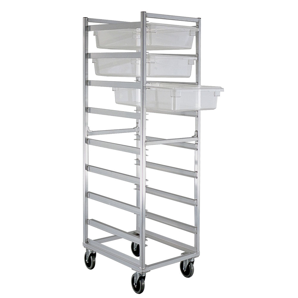New Age 1481 Mobile Full Height Pan Rack w/ (8)18x26-in Pan Capacity & End Loading Aluminum