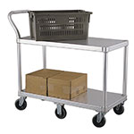 New Age 1490 2-Level Aluminum Utility Cart w/ 800-lb Capacity, Flat Ledges
