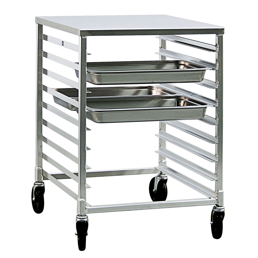 """New Age 1501 24.25""""W 18-Steam Table Pan Rack w/ 3"""" Bottom Load Slides"""