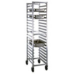 New Age 1505 Full Height Steam Table Pan Rack, Open Sides, (20)12x20-in Pan Capacity Aluminum
