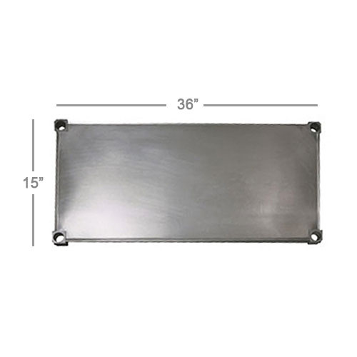 New Age 1536S Aluminum Solid Shelf - 15x36""