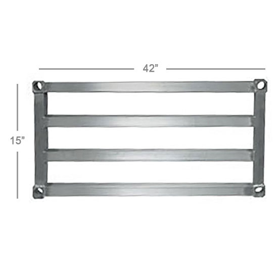 New Age 1542HD Aluminum Tubular Shelf - 15x42""