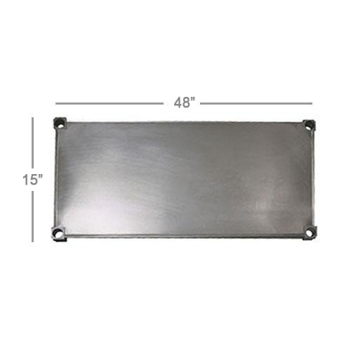 "New Age 1548S Aluminum Solid Shelf - 48x15"""